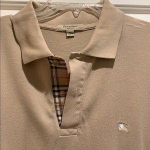 Burberry men's polo khaki color